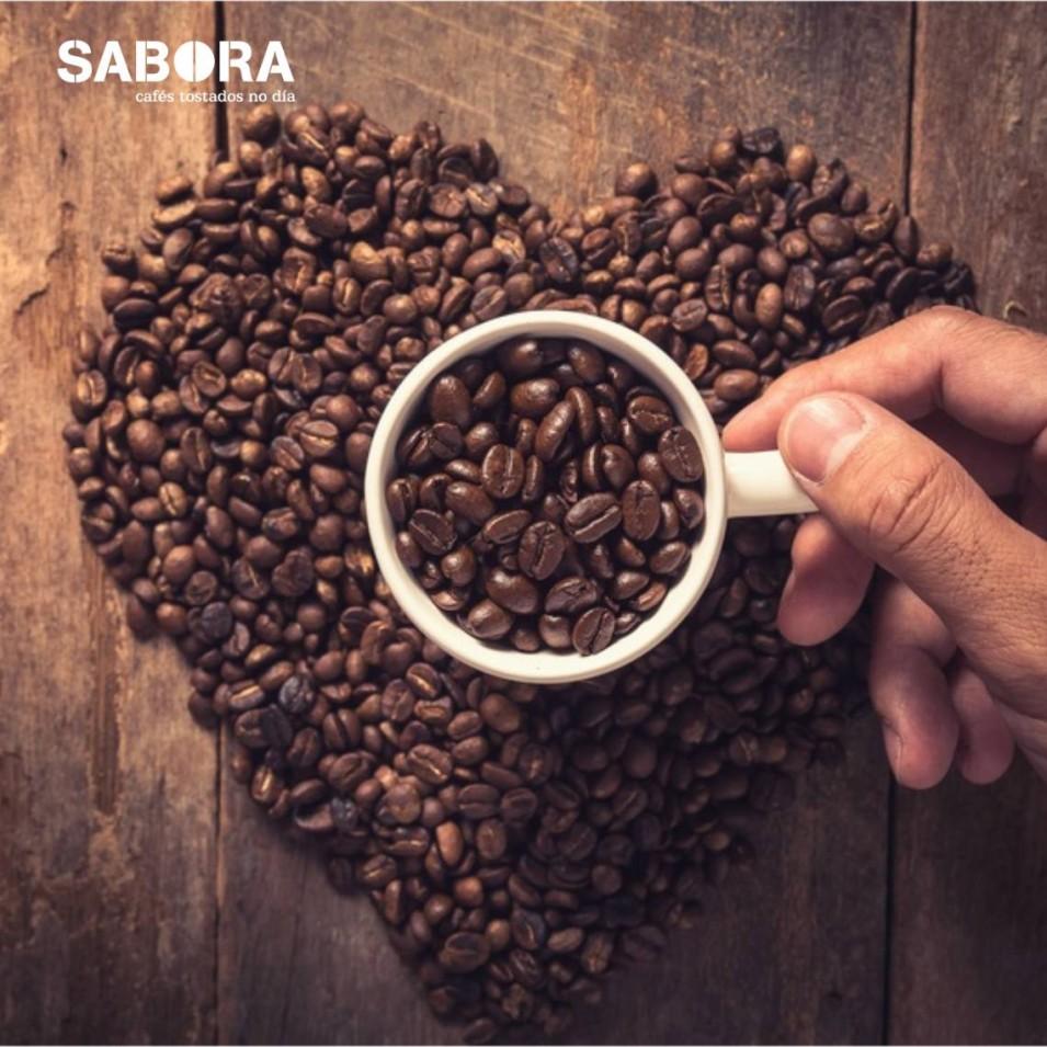 Amamos o café en gran para cafetería