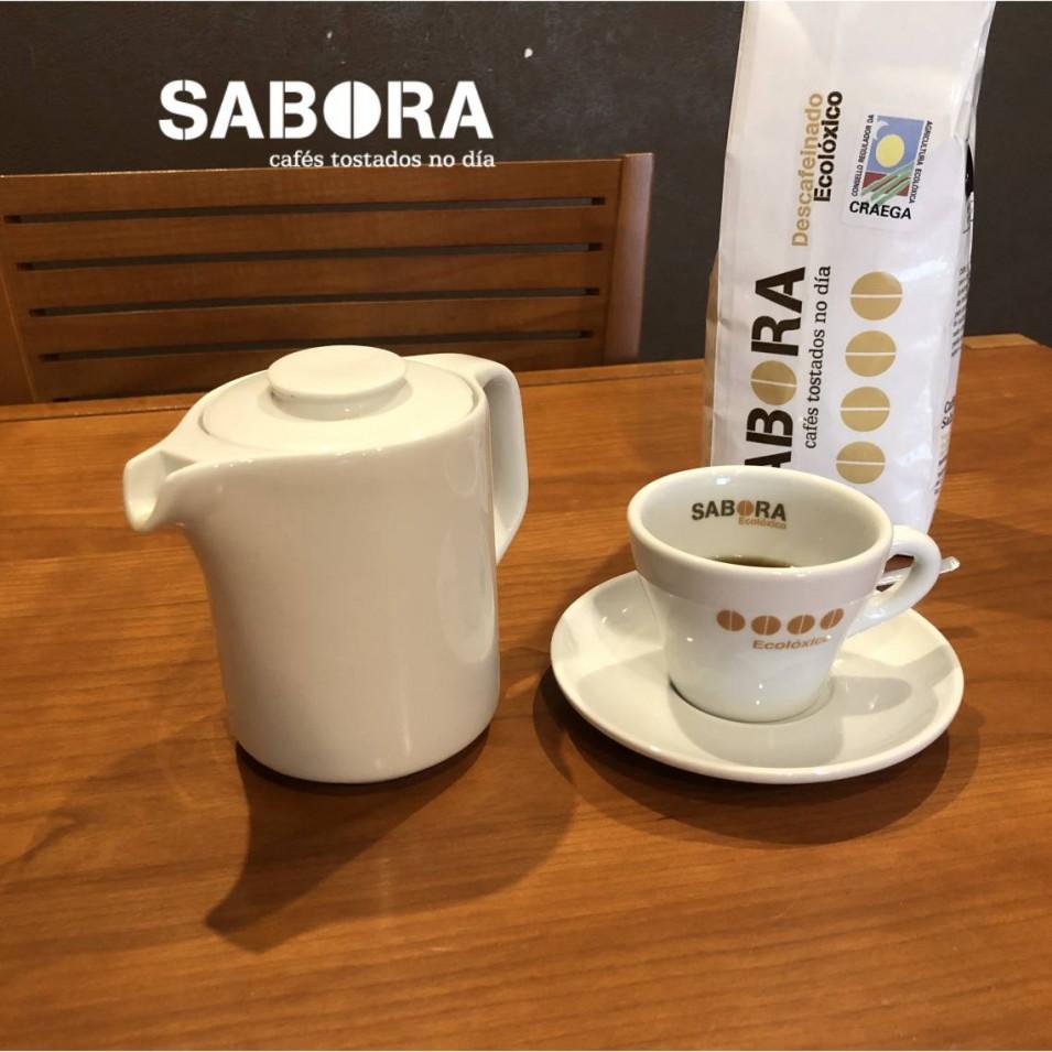 Café descafeinado orgánico de cafés sabora