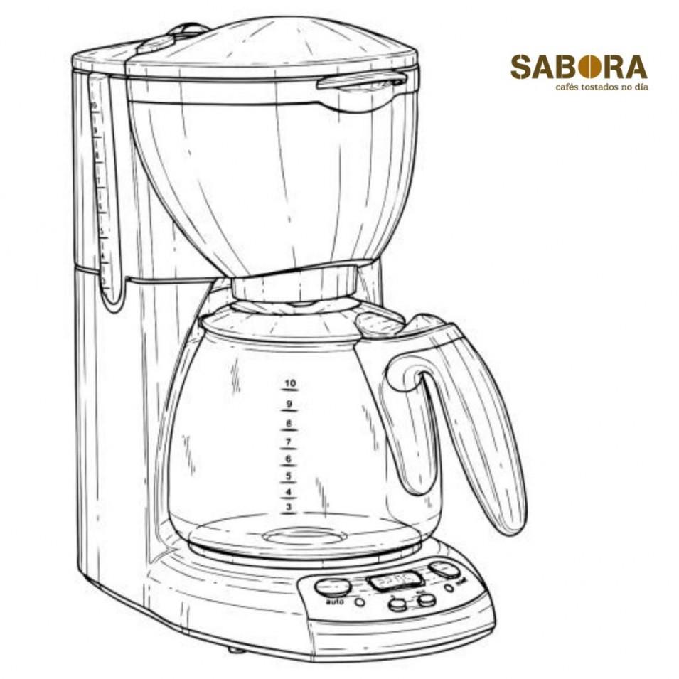 Cafeteira de goteo ou filtro electrica