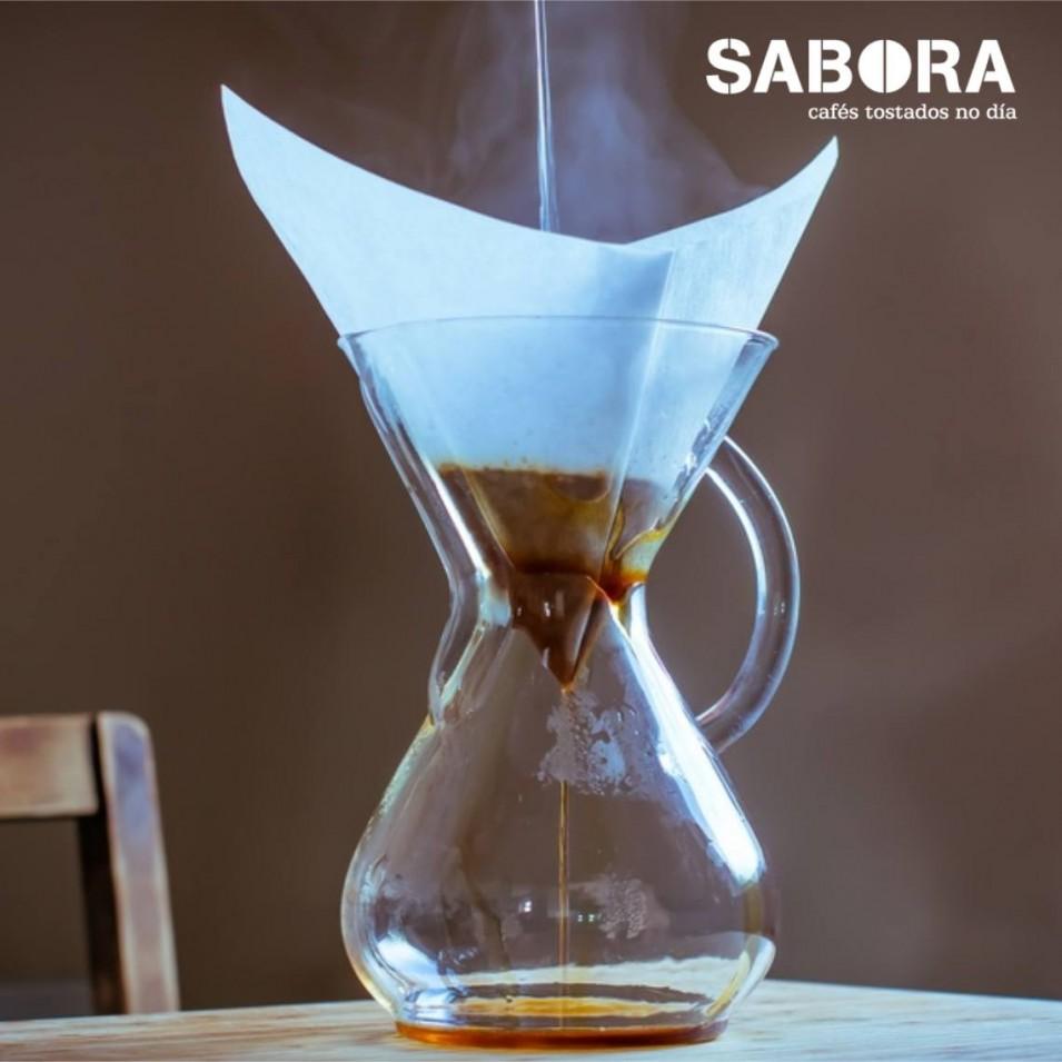Prepara o teu café na casa  cunha Chemex