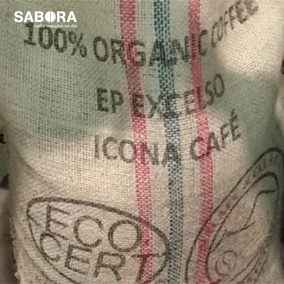 Saco de café orgánico ou ecolóxico