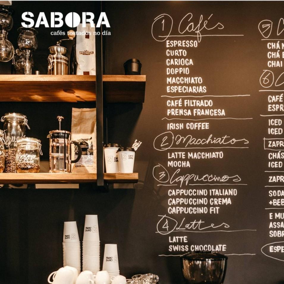 Tipos de café en una cafetería