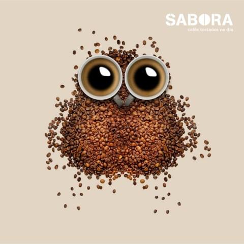 Café con forma de búho