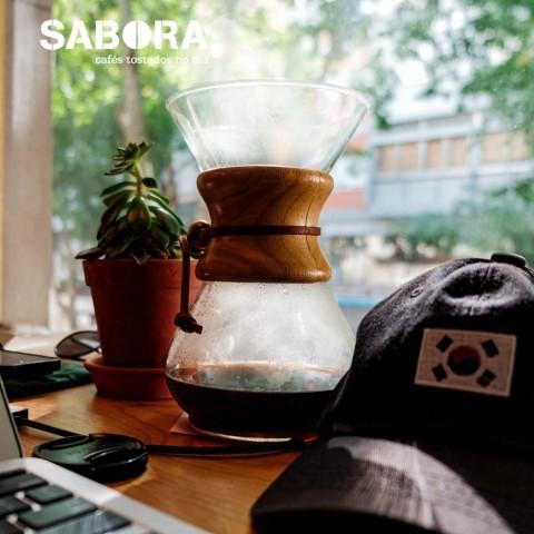 Café só en cafeteira Chemex